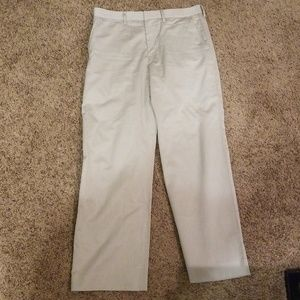 Tan Armani Exchange Pinstripe Dress Pants 33 Reg